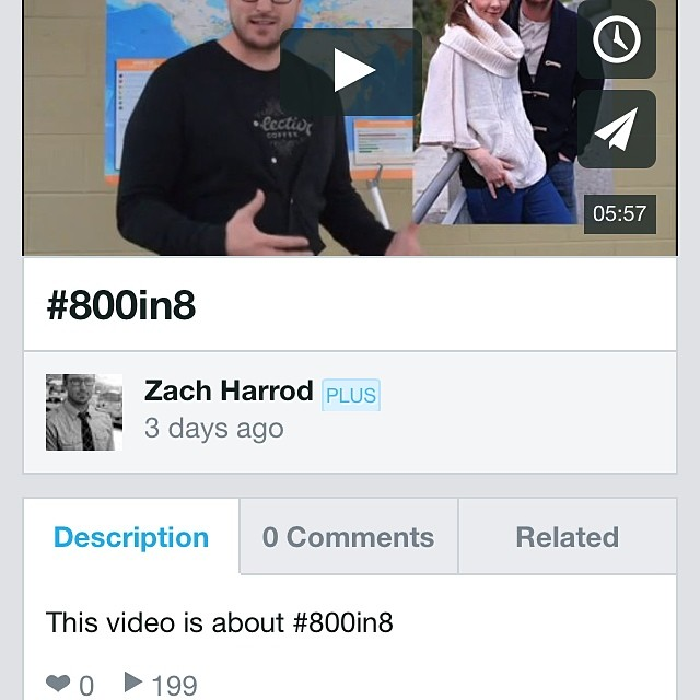 Who's going to be the 200th person to check out #800in8 intro video?!? We're already seeing movement with this little project. Let's keep it rolling...! http://vimeo.com/92339233 #lifeofamissionary #HeWillSurelyDoIt