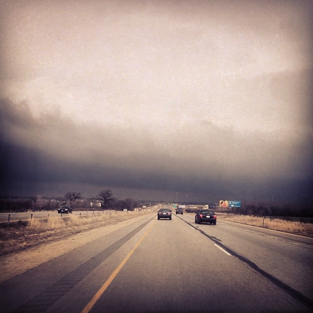 Heading north again (speaking at THRIVE in Fondy in the morning) & I'm driving into this. More than a bit ominous! It feels kind of like a metaphor for life. We'll see what this storm ahead will bring. #harrodrallytime #harrodhomeassignment #havevisionwilltravel #lifeofamissionary