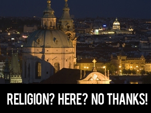 religion? here? no thanks!